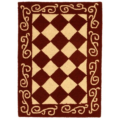 Brayton Red/Ivory Area Rug Rug Size: Rectangle 18 x 26
