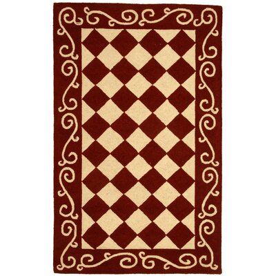 Brayton Red/Ivory Area Rug Rug Size: Rectangle 29 x 49