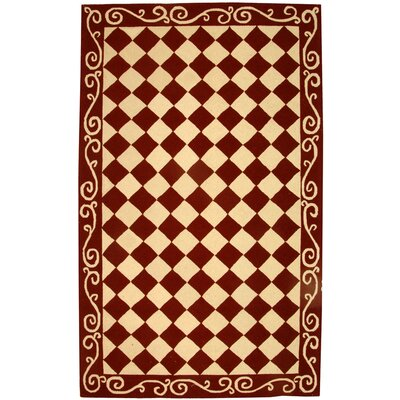 Brayton Red/Ivory Area Rug Rug Size: Rectangle 53 x 83