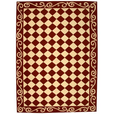 Brayton Red/Ivory Area Rug Rug Size: Rectangle 6 x 9