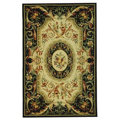 Brayton Black Area Rug Rug Size: Rectangle 18 x 26
