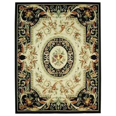 Brayton Black Area Rug Rug Size: Rectangle 79 x 99