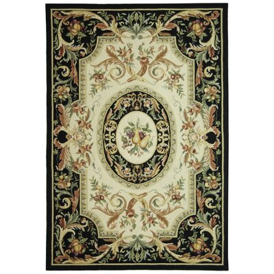 Brayton Black Area Rug Rug Size: Rectangle 53 x 83
