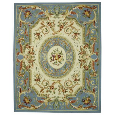 Brayton Blue Area Rug Rug Size: Rectangle 89 x 119
