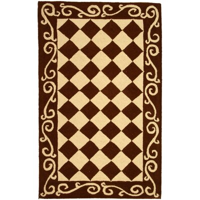 Brayton Brown/Ivory Area Rug Rug Size: Rectangle 29 x 49