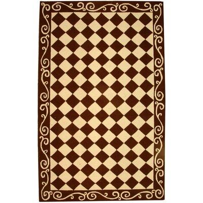 Brayton Brown/Ivory Area Rug Rug Size: Rectangle 53 x 83
