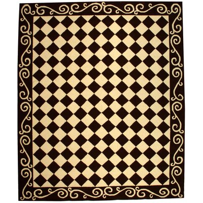 Brayton Brown/Ivory Area Rug Rug Size: Rectangle 79 x 99