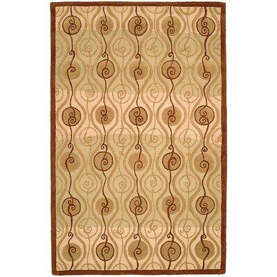 Brazeal Fluidity Beige Contemporary Rug Rug Size: 36 x 56 Rectangle