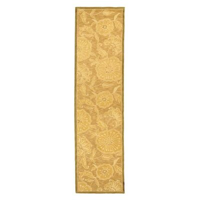 Brayton Light Brown/Ivory Area Rug Rug Size: Runner 26 x 12