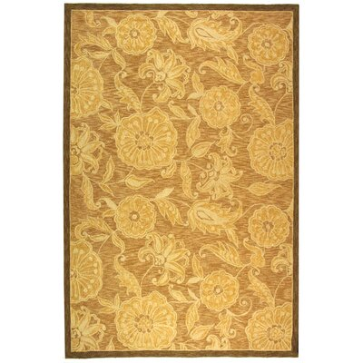 Brayton Light Brown/Ivory Area Rug Rug Size: 89 x 119