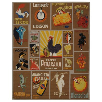 Brayton Mocha Novelty Area Rug Rug Size: Rectangle 79 x 99