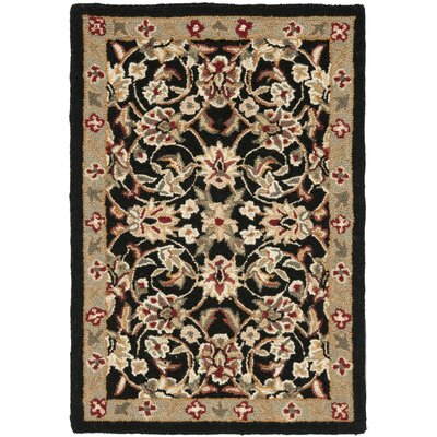 Brayton Black/Ivory Area Rug Rug Size: Rectangle 26 x 4