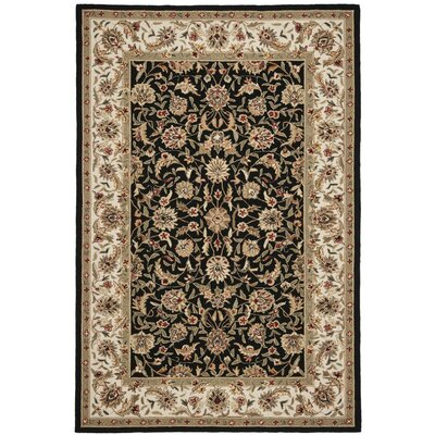 Brayton Black/Ivory Area Rug Rug Size: Rectangle 6 x 9