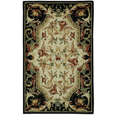 Brayton Black Area Rug Rug Size: Rectangle 26 x 4