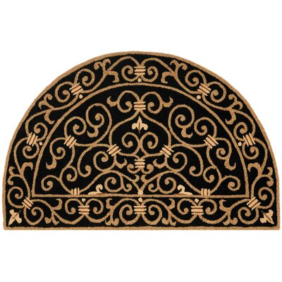 Brayton Black&Iron Gate Area Rug Rug Size: Rectangle 39 x 59