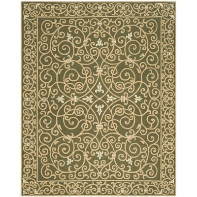 Brayton Green Area Rug Rug Size: Rectangle 89 x 119