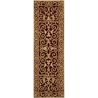 Brayton Burgundy/Iron Gate Area Rug Rug Size: Runner 26 x 8
