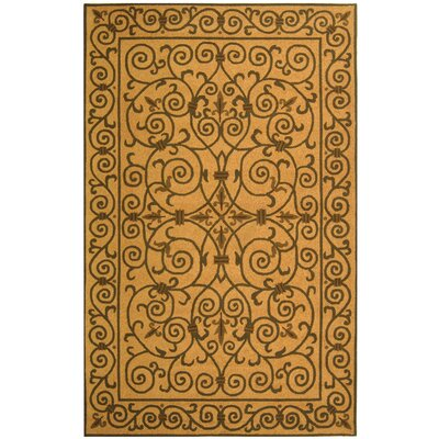 Brayton Yellow/Iron Gate Area Rug Rug Size: 6 x 9