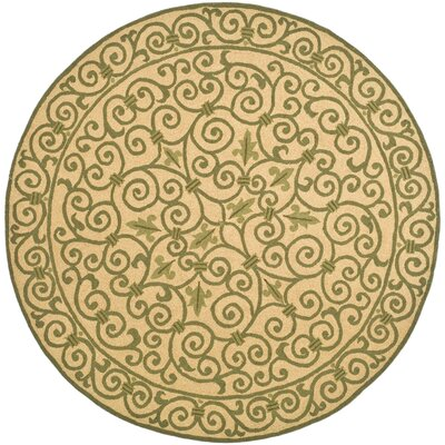 Brayton Yellow/Iron Gate Area Rug Rug Size: Round 8