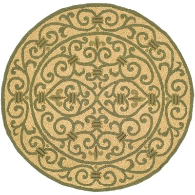 Brayton Yellow/Iron Gate Area Rug Rug Size: Round 4