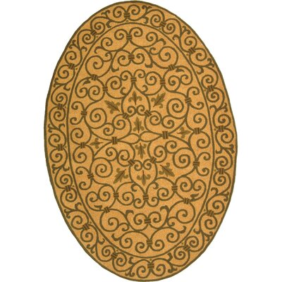 Brayton Yellow/Iron Gate Area Rug Rug Size: Oval 76 x 96