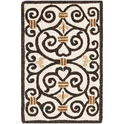 Brayton Ivory/Iron Gate Area Rug Rug Size: 29 x 49