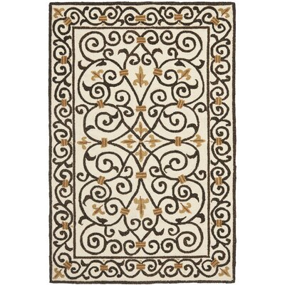 Brayton Ivory/Iron Gate Area Rug Rug Size: 53 x 83