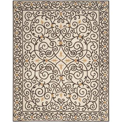 Brayton Ivory/Iron Gate Area Rug Rug Size: 89 x 119