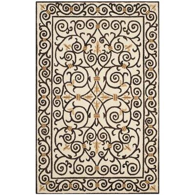 Brayton Ivory/Iron Gate Area Rug Rug Size: 39 x 59