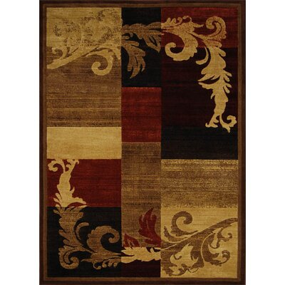 Cheyney Light Brown/Red Area Rug Rug Size: 53 x 72