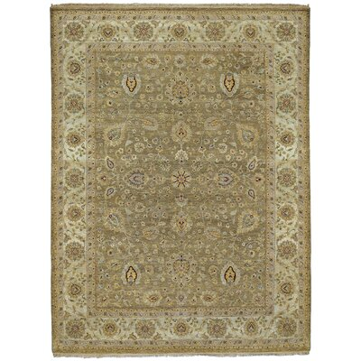 Childress Hand-Knotted Beige Area Rug