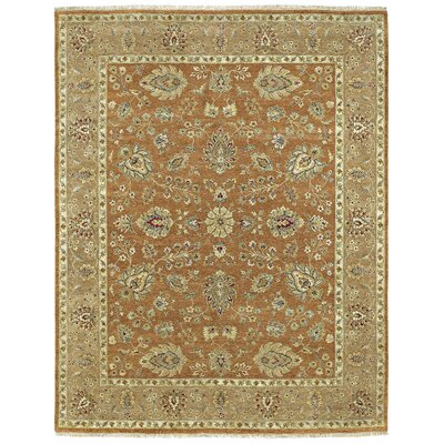 Childress Hand-Knotted Tobacco Area Rug Rug Size: 6 x 9