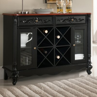 Sowams Wood Storage 16 Bottle Floor Wine Cabinet