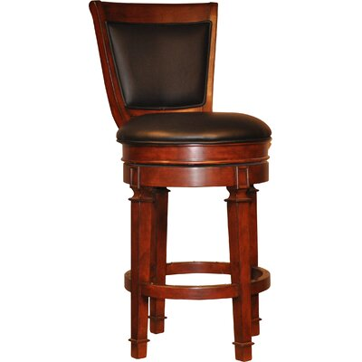 Chiaramonte 30 Swivel Bar Stool (Set of 2) Finish: Distressed Walnut