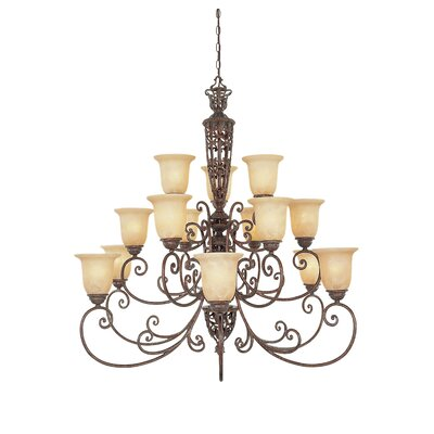 Claverack 15-Light Shaded Chandelier