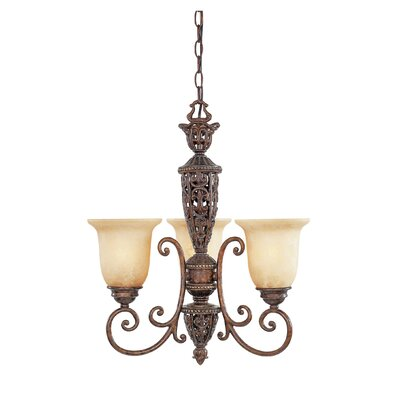 Claverack 3-Light Shaded Chandelier