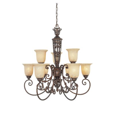 Claverack 9-Light Shaded Chandelier
