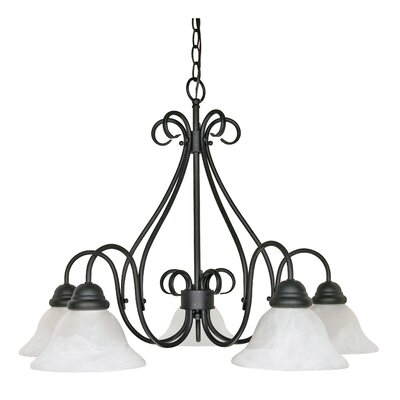 Claycomb 5-Light Shaded Chandelier