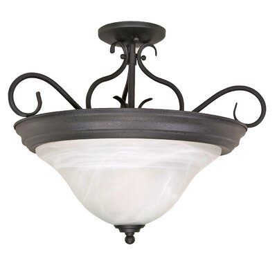 Claycomb 3-Light Semi Flush Mount
