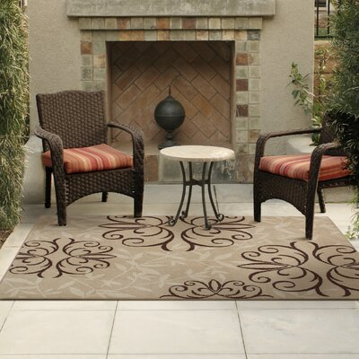 Adrian Whisper Beige Indoor/Outdoor Area Rug Rug Size: 78 x 1010