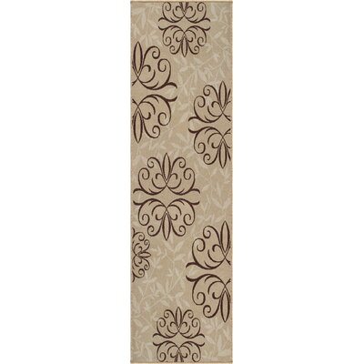 Adrian Whisper Beige Indoor/Outdoor Area Rug Rug Size: Runner 23 x 8