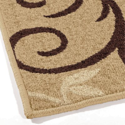 Adrian Whisper Beige Indoor/Outdoor Area Rug Rug Size: 52 x 76