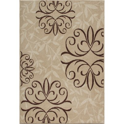 Adrian Whisper Beige Indoor/Outdoor Area Rug Rug Size: Rectangle 52 x 76