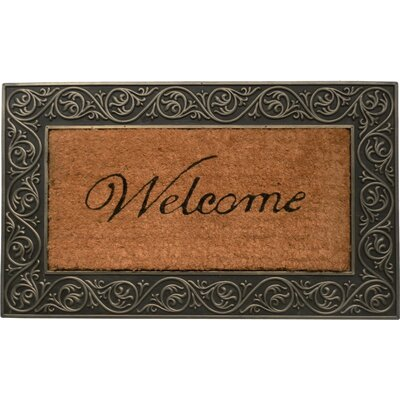 Reyna Welcome Doormat Color: Silver