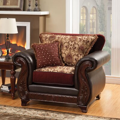 Chandra Luxe Armchair MLB Team: Burgundy