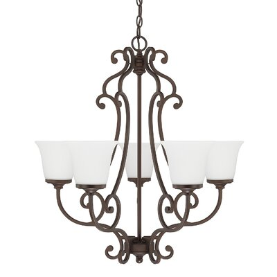 Gayle 5-Light Shaded Chandelier