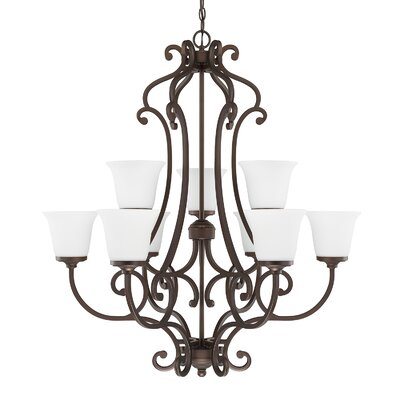 Gayle 9-Light Shaded Chandelier