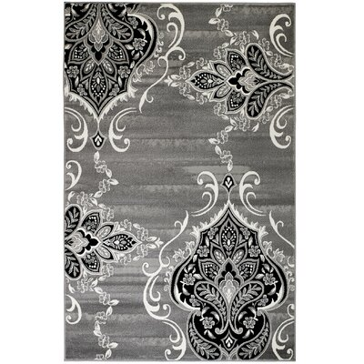 Janis Gray Area Rug Rug Size: 38 x 5