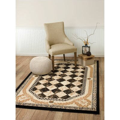 Janis Black Area Rug Rug Size: 38 x 5