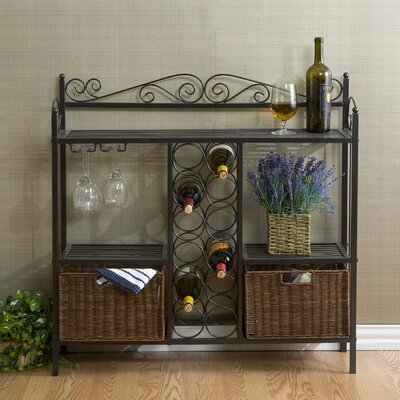 Clarkstown Scrolled Bar with Wine Storage